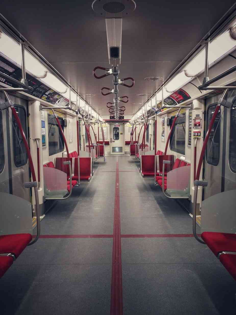 empty subway train car