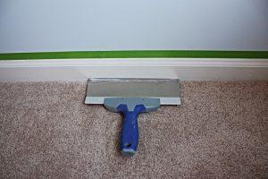 Painting Trim Near Carpet